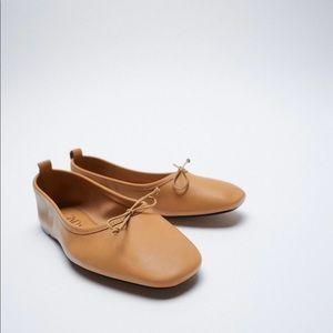 ✨SALE✨Zara leather ballet flats ✨SALE✨